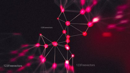 Connecting Dots and Lines Pink and Black Blur Background Graphic
