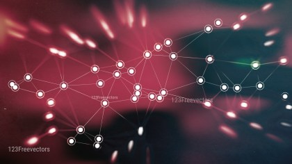 Pink and Black Connected Lines and Dots Blur Background Image