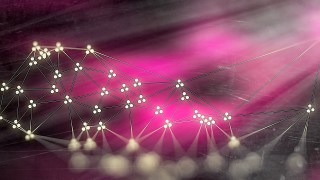 Pink Beige and Black Connected Lines and Dots Blur Background