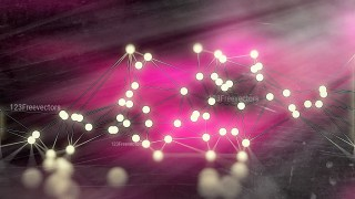 Connecting Dots and Lines Pink Beige and Black Blurred Background Image