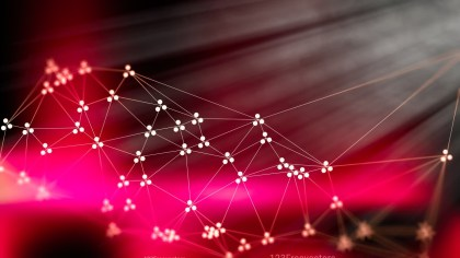 Pink Red and Black Connected Lines and Dots Blur Background Design