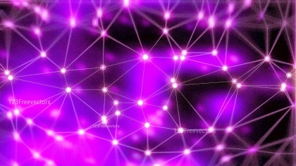 Purple and Black Connected Lines and Dots Blur Background