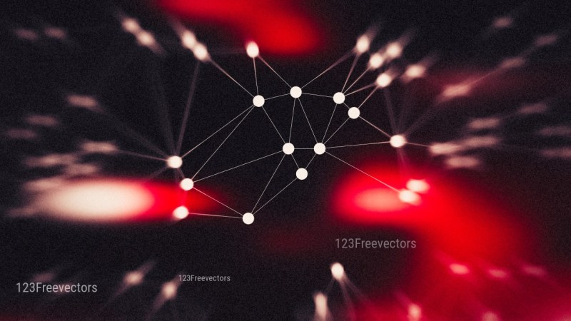 Red and Black Blurred Connected Lines and Dots Background Image