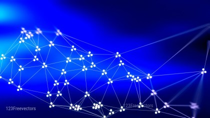 Connecting Dots and Lines Royal Blue Blur Background Graphic