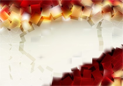 Abstract Beige and Red Geometric Square Background Vector