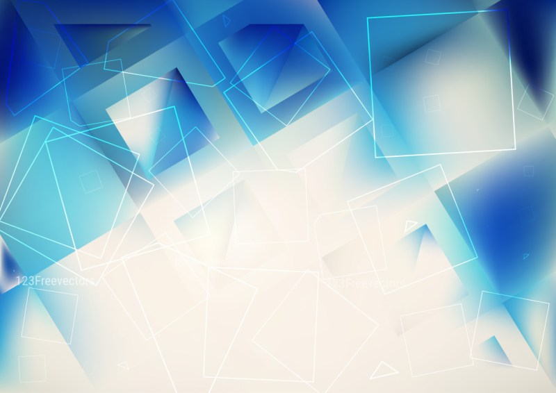 Abstract Blue and Beige Square Background Design