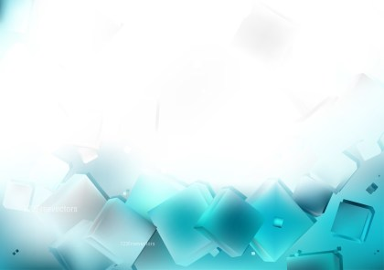 Abstract Blue and White Geometric Square Background