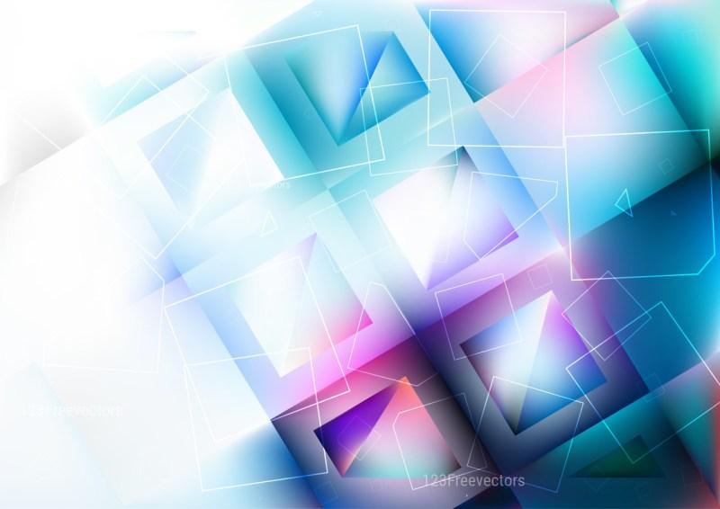Blue Purple and White Geometric Square Background