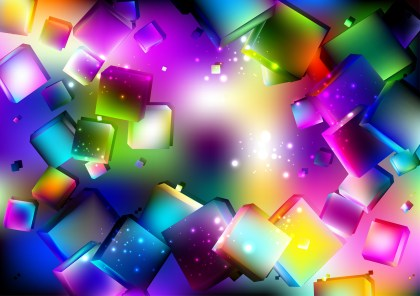 Colorful Geometric Square Background Vector