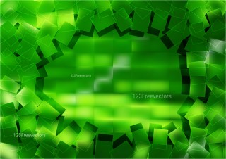 Abstract Green Square Background Vector Illustration