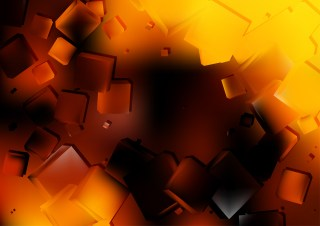Orange and Black Geometric Square Background Vector Graphic