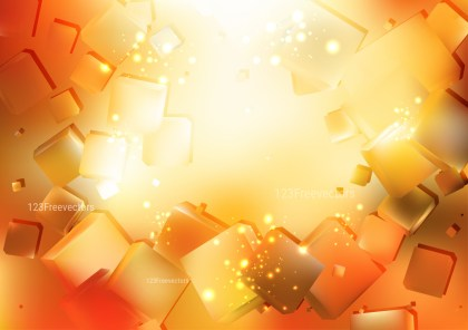 Abstract Orange and White Square Background Illustration