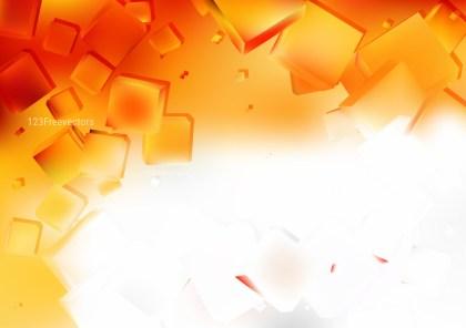 Orange and White Geometric Square Background Illustrator