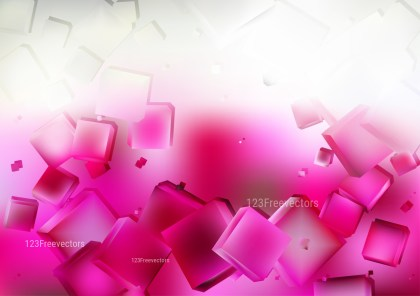 Abstract Pink and White Geometric Square Background Graphic