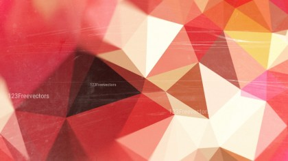 Beige and Red Grunge Polygon Pattern Background Graphic