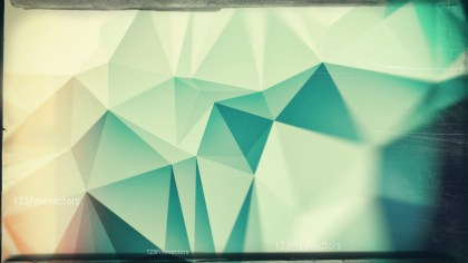 Beige and Turquoise Low Poly Abstract Background Design
