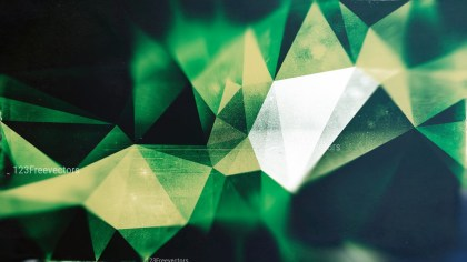 Beige Green and Black Distressed Polygon Triangle Background Image