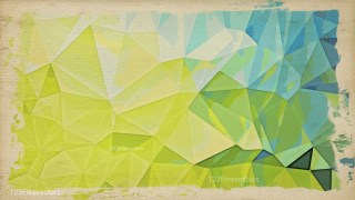 Beige Green and Blue Grunge Low Poly Background