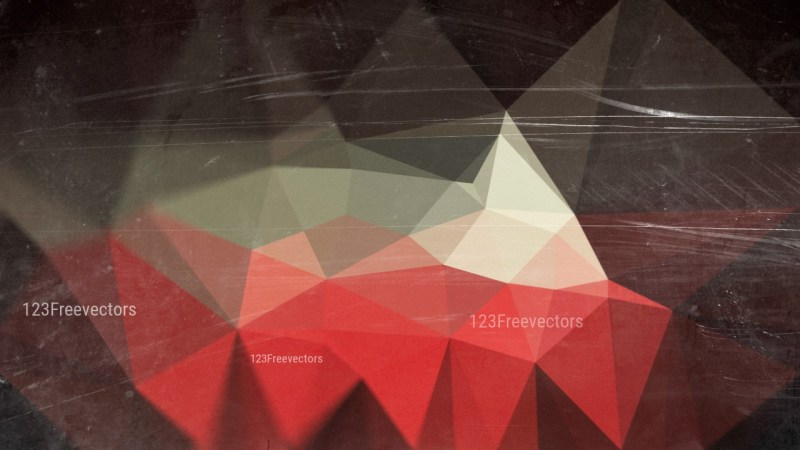 Beige Red and Black Grunge Polygon Pattern Background