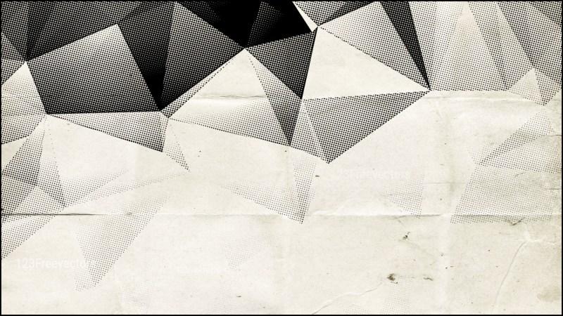 Black and Beige Grunge Geometric Polygon Background Graphic