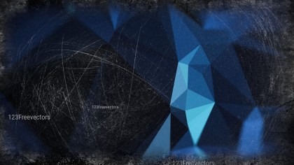 Black and Blue Grunge Polygon Background Design