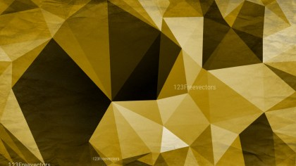 Black and Gold Distressed Polygonal Background Image