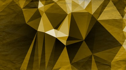 Black and Gold Grunge Low Poly Background