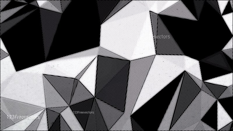 Black and White Distressed Polygonal Background