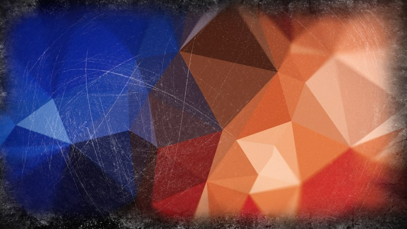 Black Blue and Brown Grunge Polygon Background