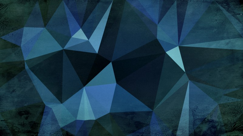 Black Blue and Green Distressed Polygon Triangle Background