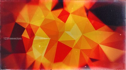 Black Red and Orange Grunge Polygon Pattern Background