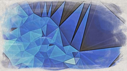 Blue and Beige Grunge Polygon Triangle Background Image