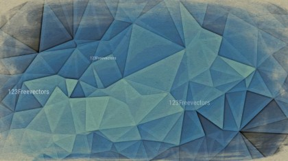 Blue and Beige Grunge Low Poly Background Image
