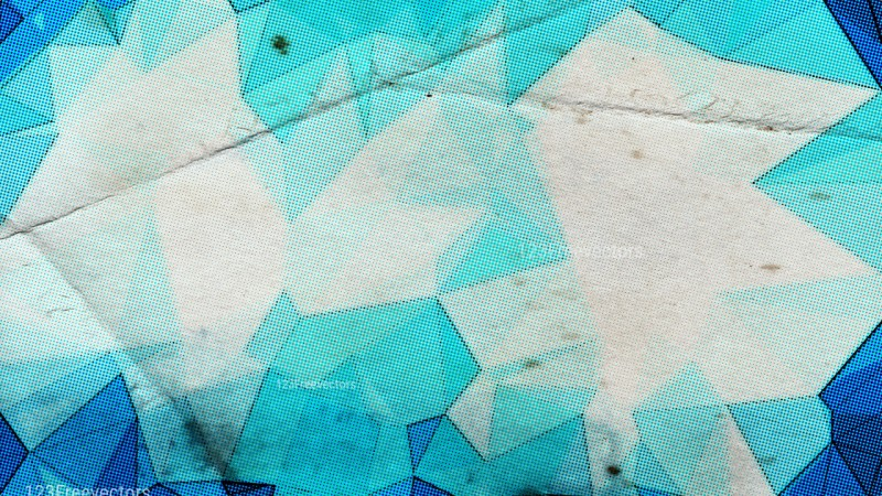 Blue and Beige Grunge Polygonal Background