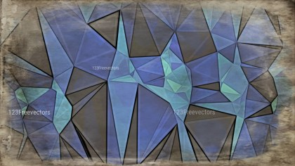 Blue and Brown Grunge Low Poly Background Graphic