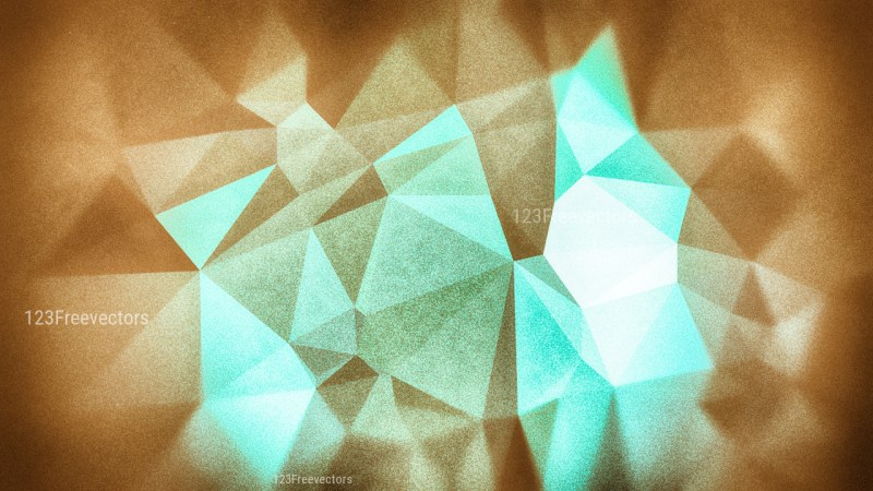 Blue and Brown Grunge Polygon Triangle Background