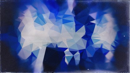 Blue and Grey Grunge Polygon Triangle Background Graphic