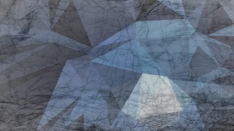 Blue and Grey Grunge Polygon Pattern Background