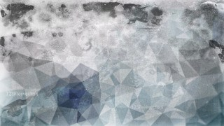 Blue and Grey Grunge Polygon Triangle Background