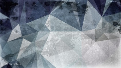 Blue and Grey Grunge Polygonal Background Graphic