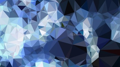 Blue Black and White Low Poly Abstract Background Design