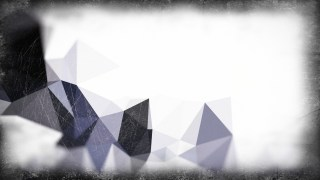 Blue Black and White Grunge Low Poly Background Design