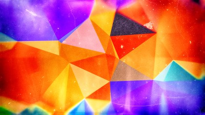 Blue Orange and Purple Distressed Polygon Background