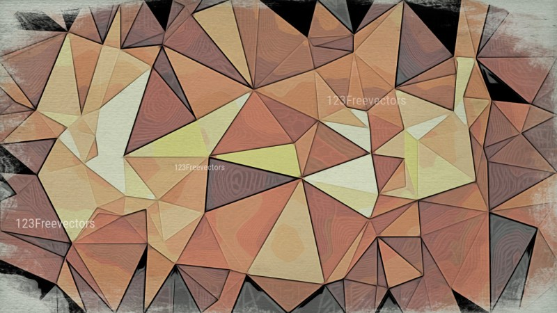 Brown Grunge Low Poly Background Image