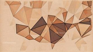 Brown Grunge Polygon Triangle Background