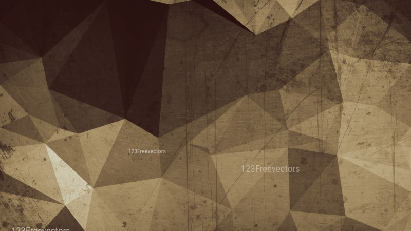 Brown Distressed Polygon Background Image