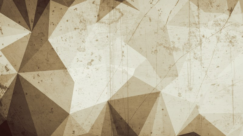 Brown Grunge Polygon Background