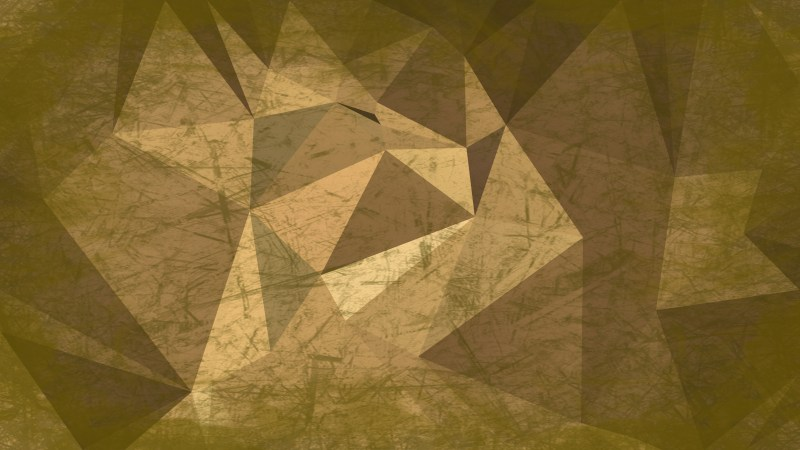 Brown and Green Grunge Polygonal Background