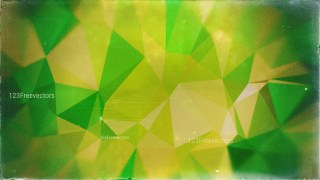 Brown and Green Grunge Polygon Triangle Pattern Background