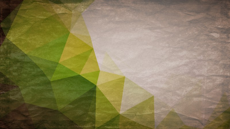 Brown and Green Grunge Low Poly Abstract Background